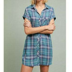 Cloth & Stone for Anthro flannel t shirt dress L